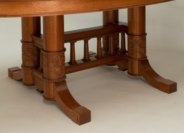Carved base - Massachusetts Statehouse Oval Table