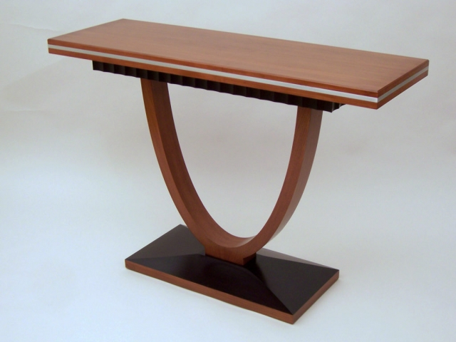 Banded Console - Cherry, Rosewood with Aluminum accent