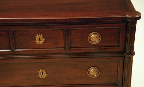 French Chest - detail - Mahogany