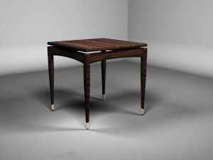 3d rendering side table macassar ebony