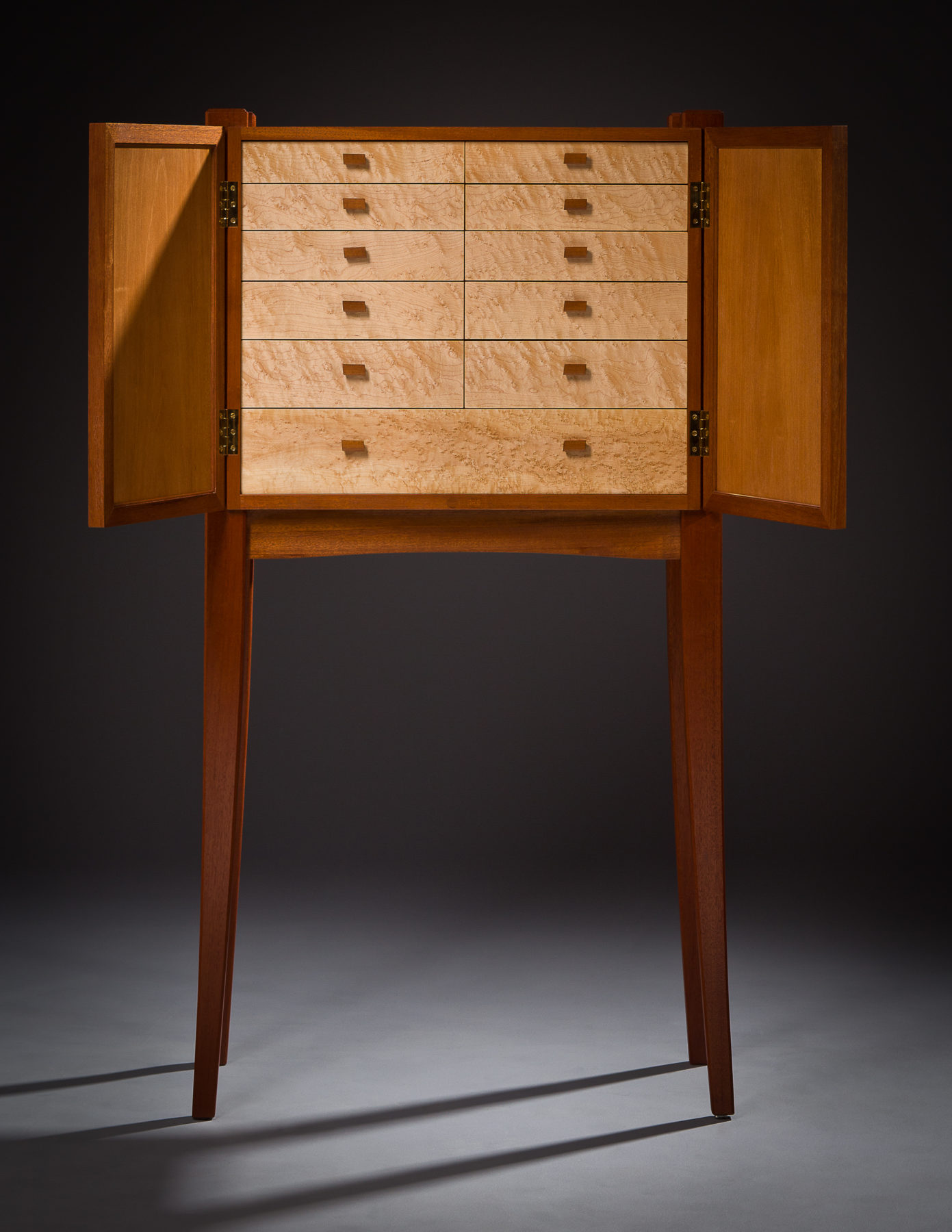 Lyric Repository - Music Cabinet - Mahogany, Birdseye Maple