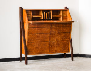 Stand Up Desk - Open - Sapele, Mahogany, Wenge, Holly