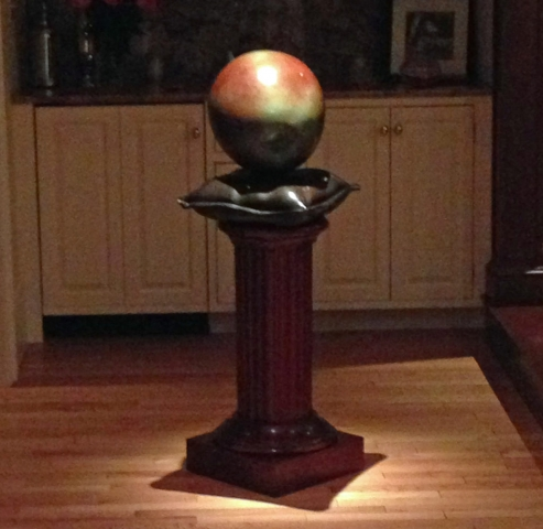 Sculpture Pedestal Base - Mahogany