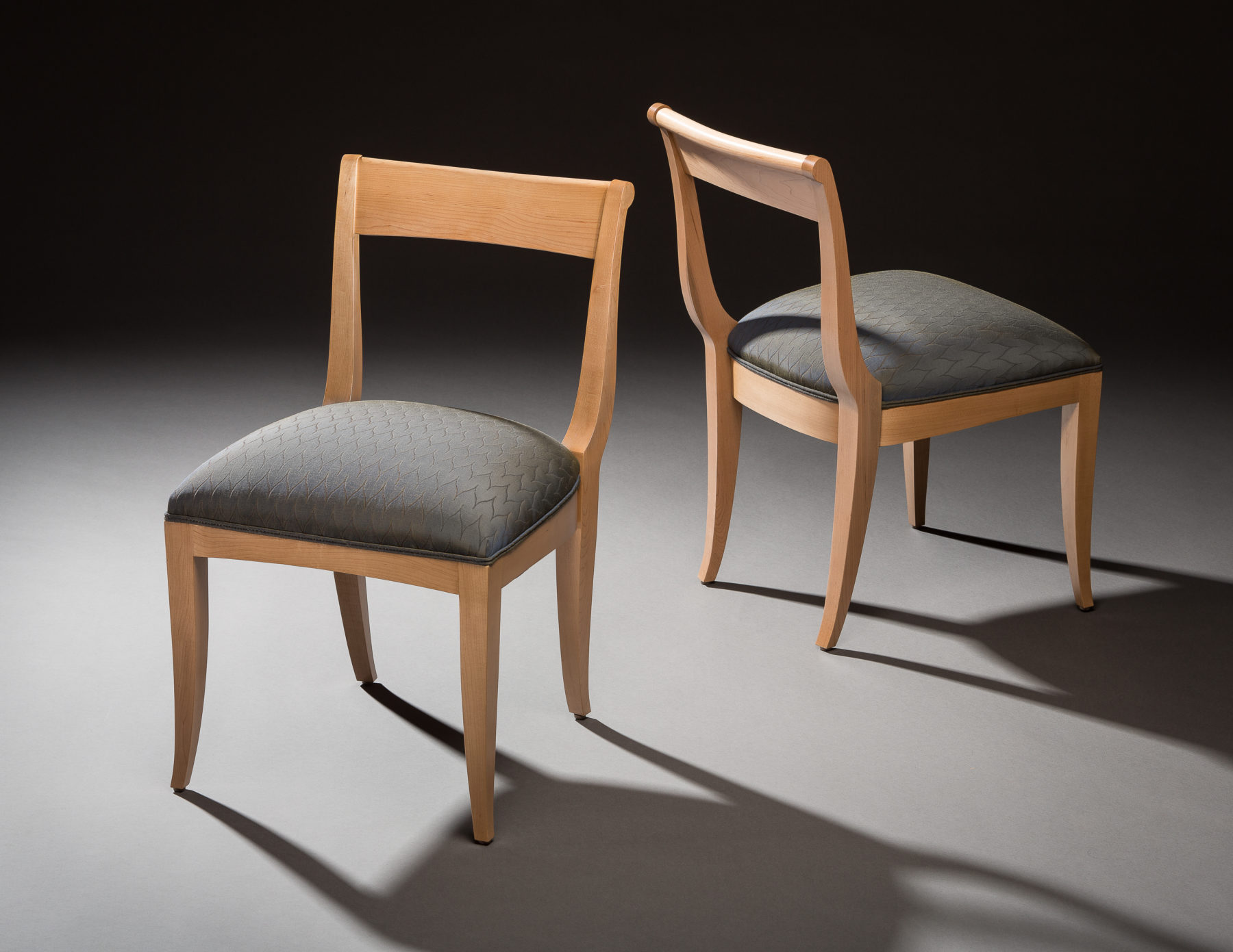 D-N Chairs - Hard Maple, Upholstery.