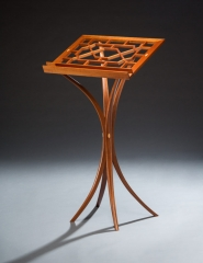 Custom craftsman reading stand in contemporary style