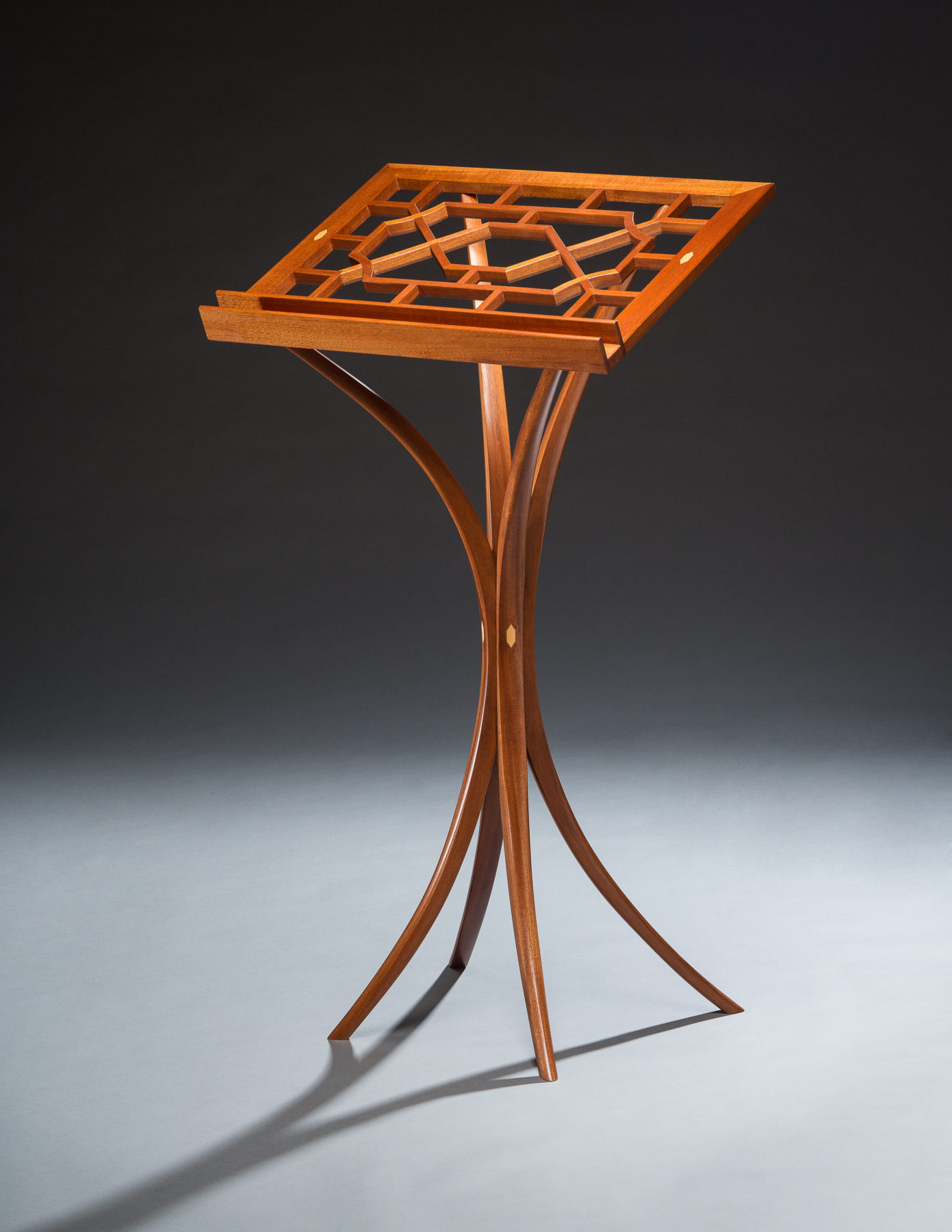 reading stand mahogany holly