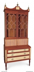 Handcrafted Federal Secretary by Richard Oedel, Cabinet Maker