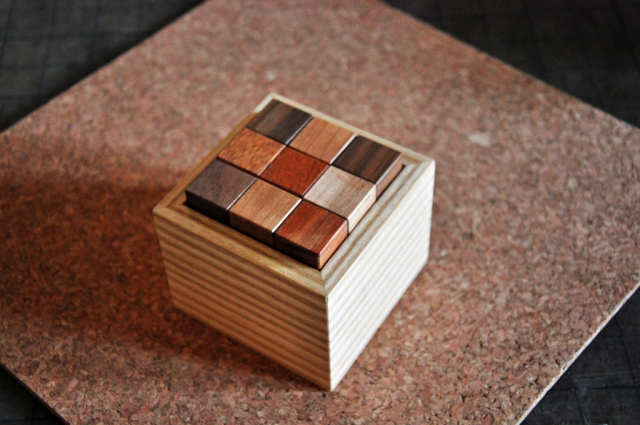 Custom Wood Puzzle - Soma Cube by modern furniture maker Richard Oedel