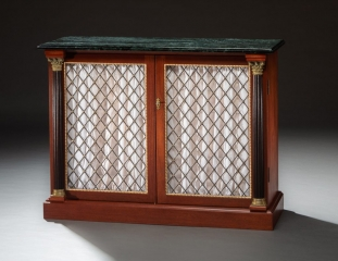 Custom designed credenza and jewelry case handcrafted with mahogany, maple